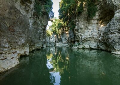 Canyon e Ponte dei Saltelli - Marmitte dei Giganti- Lato Valle - Canoa - Foto: Davide Tonelli